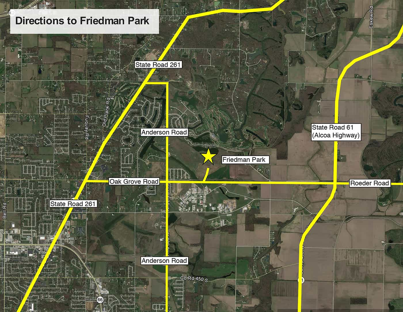 Friedman Park Map & Directions